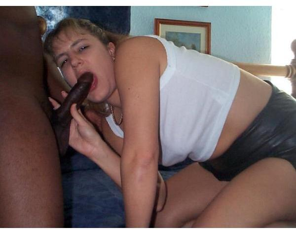 blonde girl sucking hard black cock